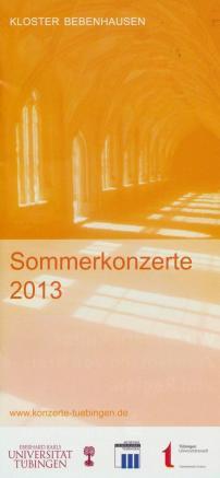 Sommerkonzerte Überblick 2013